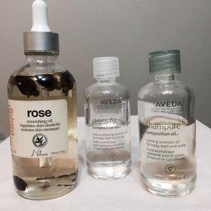 AVEDA composition oils & rose oil bundle